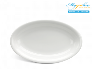 Dĩa oval Dòng Nhà Hàng Jasmine Lys Trắng Ngà 37cm