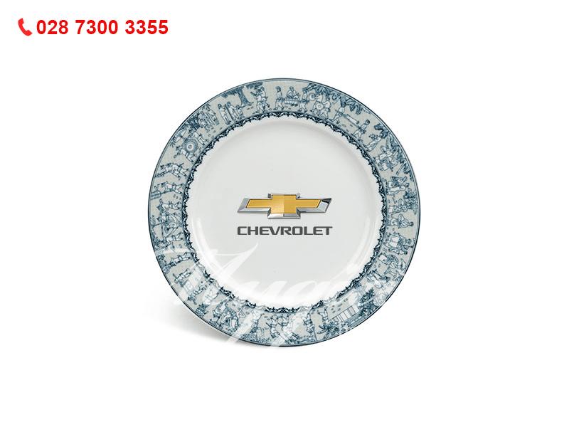 Quà tặng doanh nghiệp độc đáo Dĩa Jasmine Vinh Quy Nhạt In Logo Chevrolet