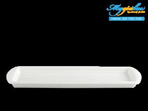 Khay Chữ Nhật Cạn Dòng Nhà Hàng Anh Vũ Lys Trắng Ngà 55 x 17cm