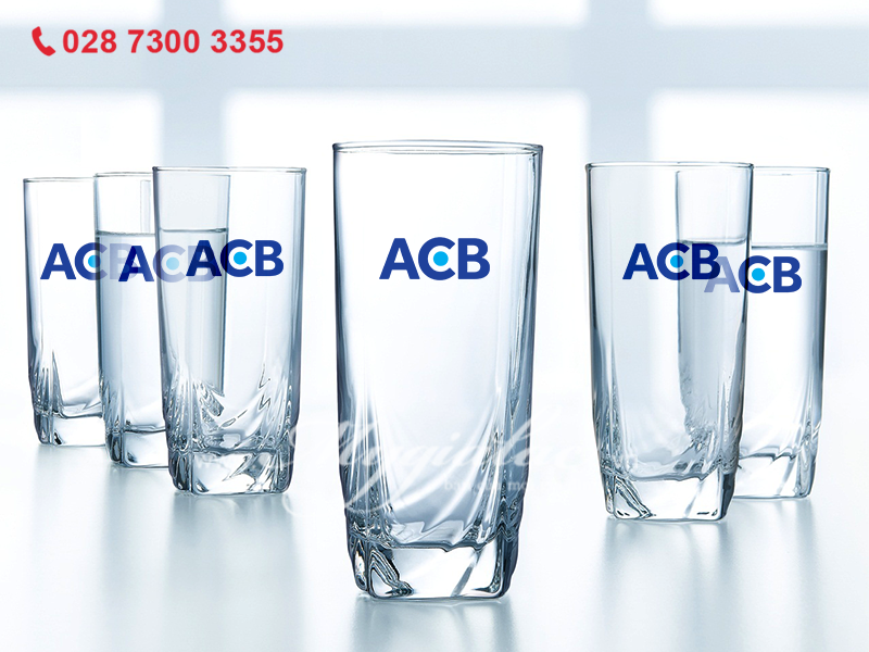 Ly Thủy Tinh Cao Luminarc In Logo ACB