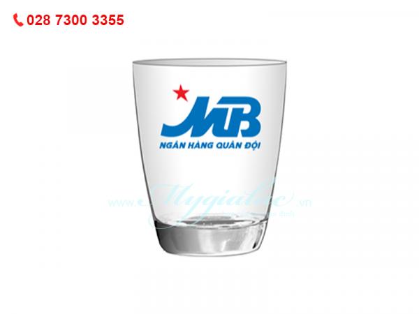 Ly Thủy Tinh Bầu Lun In Logo Ngân Hàng MB