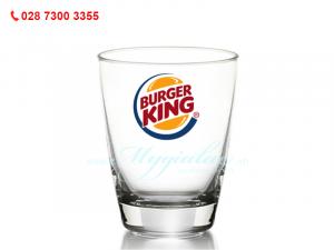 Ly Thủy Tinh Bầu Lun Cao Cấp Indo In Logo Burger King