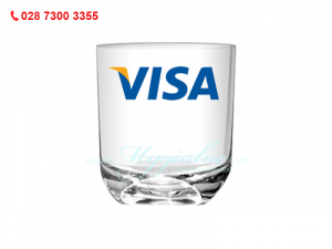 Ly Thủy Tinh Indo In Logo Visa