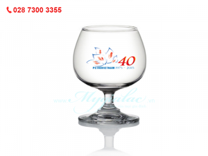 Ly Thủy Tinh Classic Brandy In Logo PetroVietnam