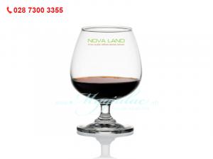 Ly Thủy Tinh Classic Brandy Cao In Logo BĐS Nova Land