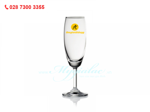 Ly Thủy Tinh Classic Flute Champine In Logo Thế Giới Di Động