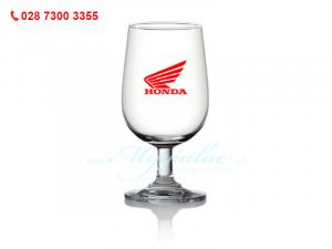 Ly Thủy Tinh Classic Goblet In Logo Honda