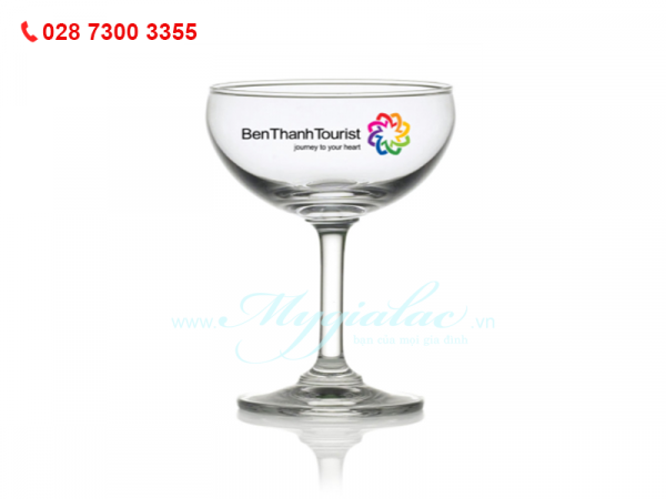 Ly Thủy Tinh Classic Saucer Champagne In Logo Bến Thành Tourist