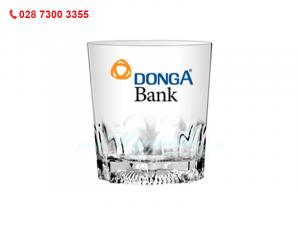 Ly Thủy Tinh Dày Khía Indo In Logo Ngân Hàng Đông Á Bank