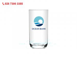 Ly Thủy Tinh Lỡ Đáy Bầu In Logo Oceanbank