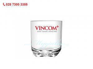 Ly Thủy Tinh Lùn In Logo Vincom