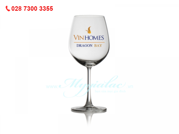 Ly Thủy Tinh Madison Bordeaus In Logo Vinhomes