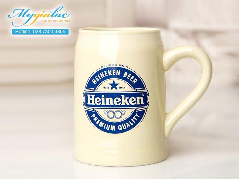 Quà tặng hội nghị hội thảo ly cốc sứ Bát Tràng in logo Heineken