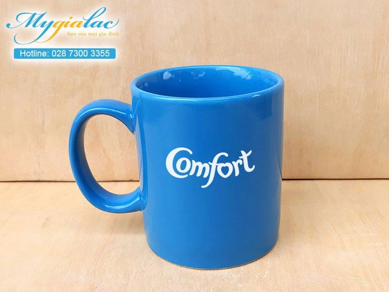 Quà tặng hội nghị hội thảo ly cốc sứ Bát Tràng in logo Comfort