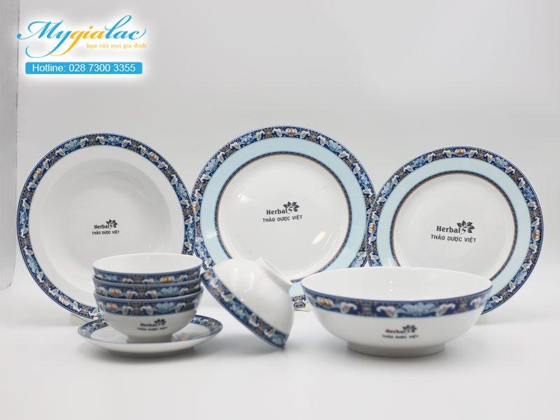 Quà tặng khách hàng bộ đồ ăn Minh Long in logo