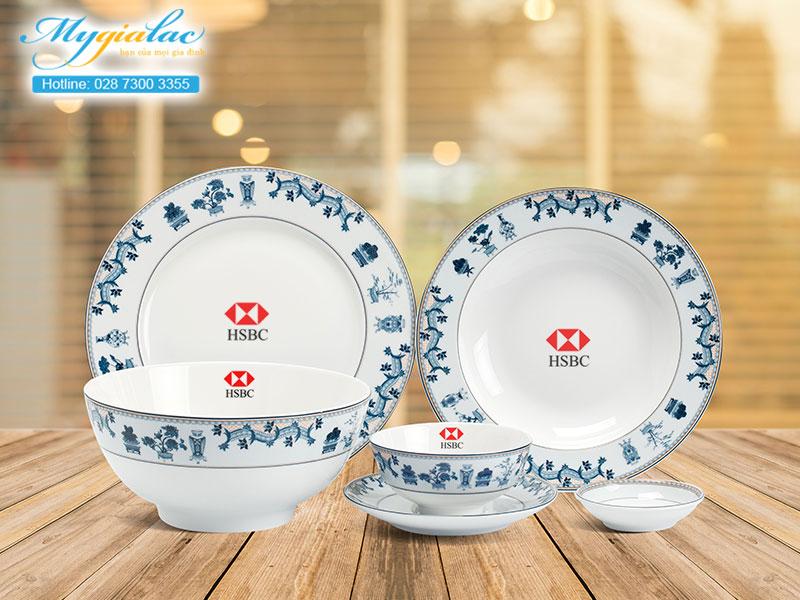 Quà tặng khách hàng bộ đồ ăn Minh Long in logo 2