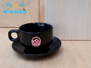 Tách Cafe Men Màu 150ml In Logo AIA Coffee