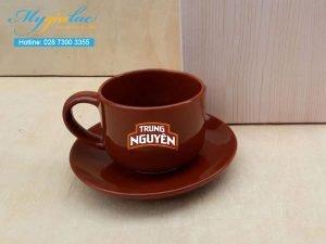 Tách Cafe Men Màu 165ml In Logo Trung Nguyên Coffee