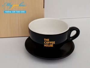 Tách Cafe Men Màu 220ml In Logo The Coffee House