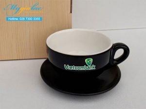 Tách Cafe Men Màu 220ml In Logo Vietcombank