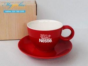 Tách Cafe Men Màu 250ml In Logo Nestle