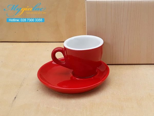 Tách Cafe Men Màu 80ml Mẫu 1