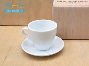 Tách Cafe Sứ Trắng 200ml Mẫu 4