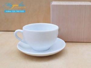 Tách Cafe Sứ Trắng 220ml Mẫu 3