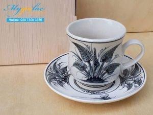 Tách Cafe Vẽ Tay Mẫu 1