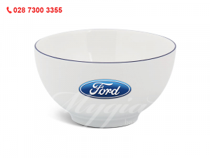 Tô Camellia Trắng In Logo Ford