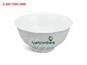 Tô Mẫu Đơn IFP Trắng Ngà In Logo Vietcombank