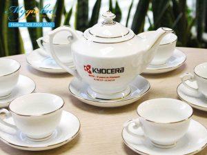 Bộ Trà Bát Tràng In Logo Kyocera