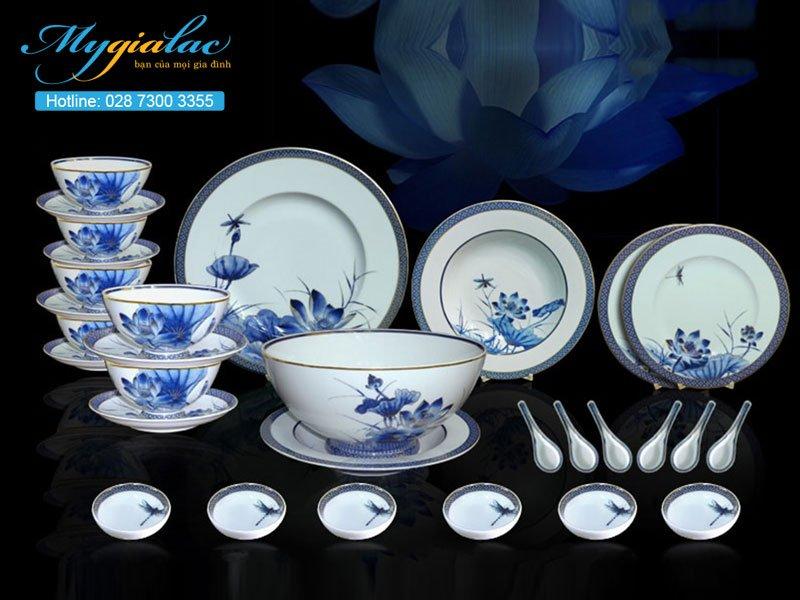 Bộ đồ ăn Hoàng Cung Sen Vàng 30 sản phẩm 3