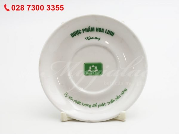 Dĩa Sứ In Logo Dược Phẩm Hoa Linh