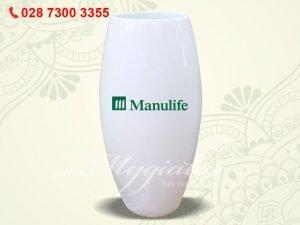 Bình Hoa Bát Tràng In Logo Manulife