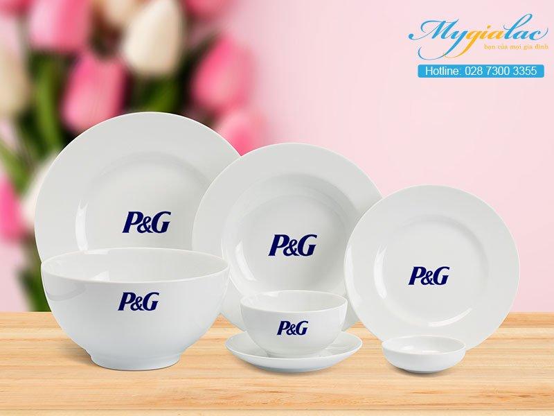 Quà Tặng 20-10 bộ bàn ăn Minh Long in logo P&G