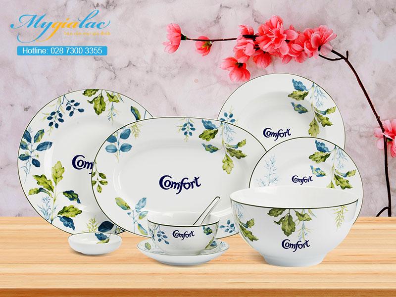 Quà Tặng 20-10 bộ bàn ăn Minh Long in logo Comfort