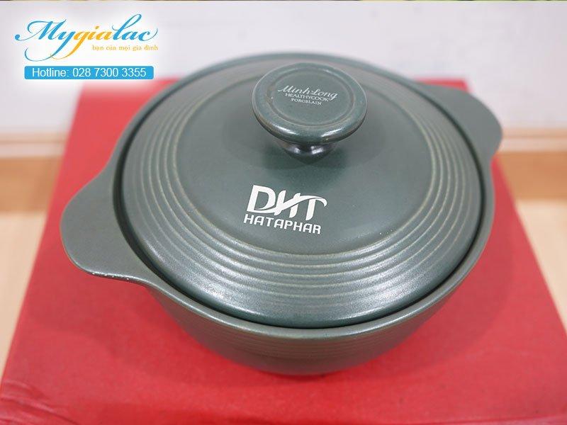 Quà Tặng 20-10 nồi sứ Minh Long in logo DHT