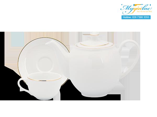 Bộ trà Camellia Chỉ Vàng 0.8L 3