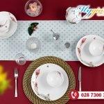 Bộ Đồ Ăn Daisy IFP Loa Kèn Hồng Tết