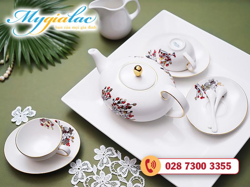 Bộ trà elip Anna Như Ý 0.47l
