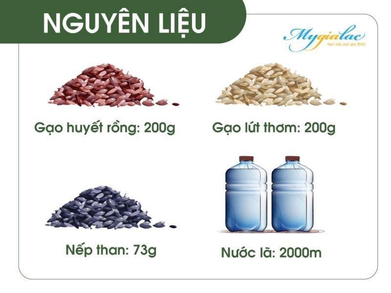 Cach Nau Gao Lut Bang Noi Su Duong Sinh Nguyen Lieu