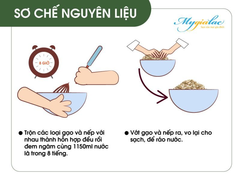 Cach Nau Gao Lut Bang Noi Su Duong Sinh So Che Nguyen Lieu