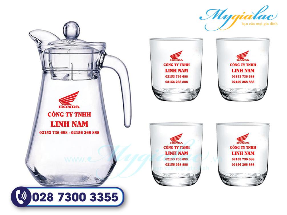 Qua Tang Dai Hoi Bo Binh Ly Thuy Tinh In Logo Honda