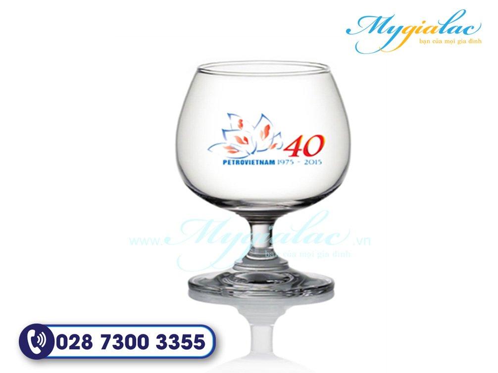 Qua Tang Dai Hoi Ly Thuy Tinh In Logo Ky Niem 40 Nam