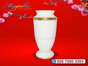 Quà tặng khách hàng vip - Quà tặng tết bình hoa trắng trụ