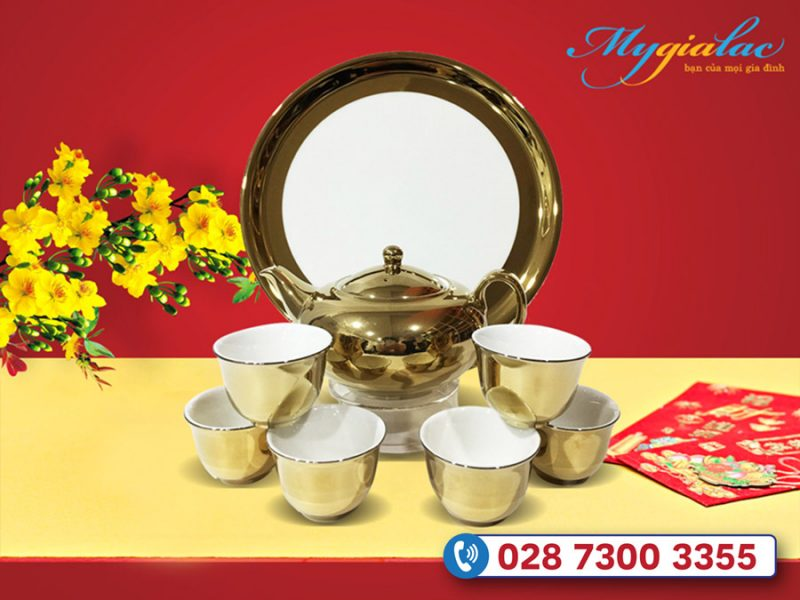 Quà tặng khách hàng vip - Quà tặng tết bộ trà Nano ultra gold