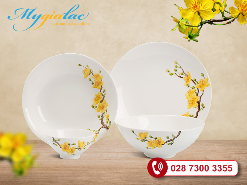 Bộ đồ ăn Minh Long Daisy Hoàng Mai
