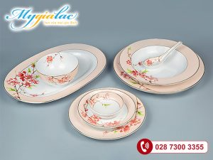 Bộ đồ ăn Camellia Hoa Đào 44 sản phẩm