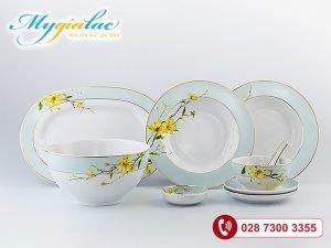 Bộ đồ ăn Camellia Hoa Mai 48 sản phẩm